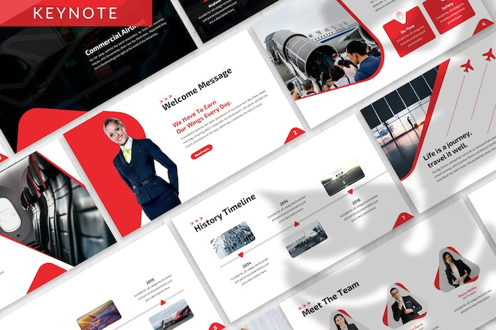 Thumbnail for Volar - Airlines Keynote Template