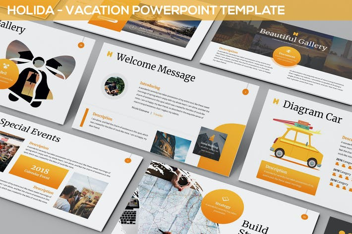 Thumbnail for Holida - Vacation PowerPoint Template