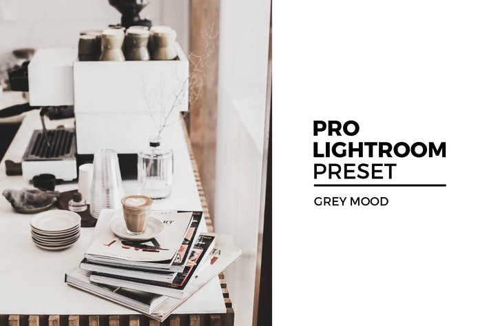Серый настрой Lightroom пресет