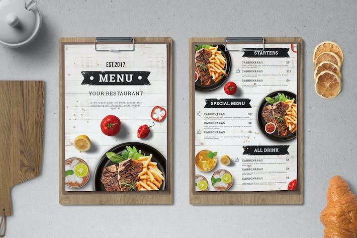 Cover Image For Food Menu