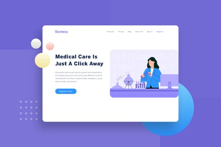 Healthcare Laboratorium check landing page header