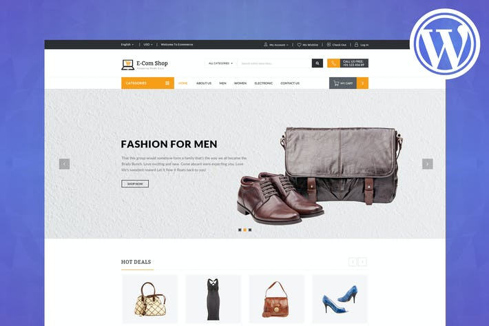 Thumbnail for eCom - Responsive WooCommerce WordPress Theme