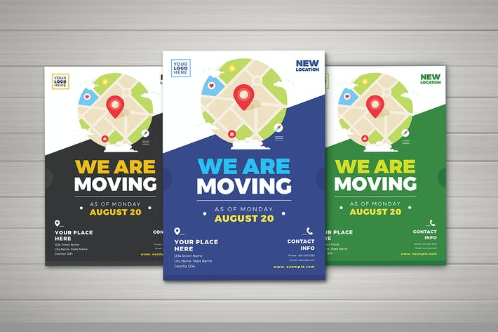 Cover Image For We Are Moving Flyer Templates