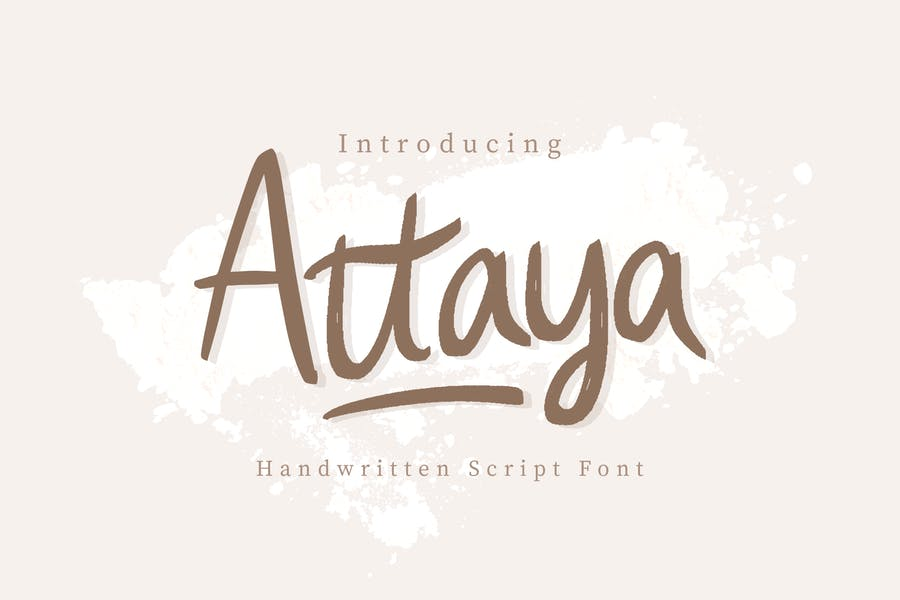 Fuente Attaya manuscrita