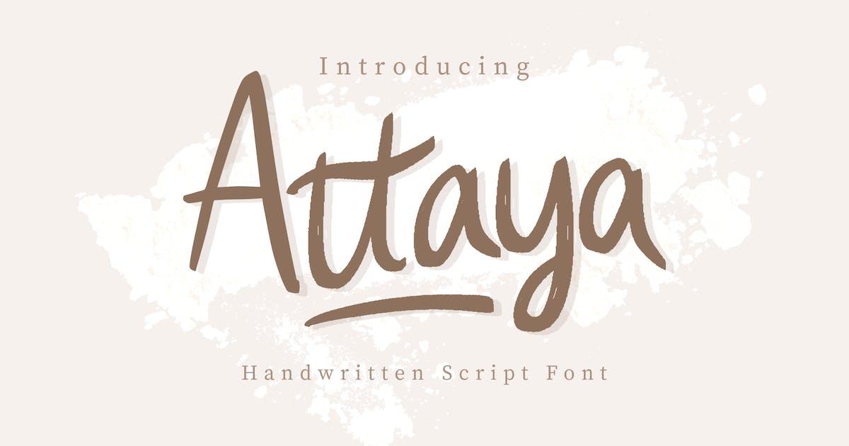 Download Attaya Handwritten Font by peterdraw