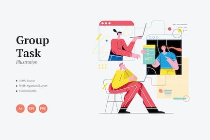 Group Task Graphics Illustration