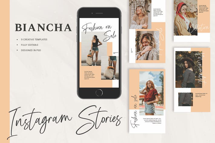 Thumbnail for Biancha Fashion Instagram Stories Template