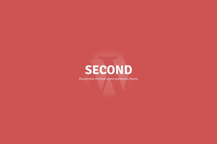 Thumbnail for Second Responsive Wordpress V-card