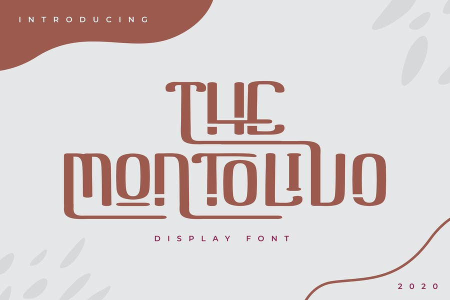 The Montolivo   Display Font