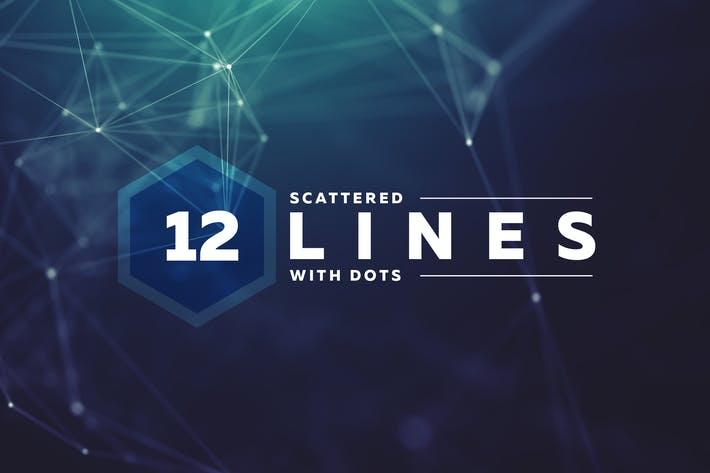 Thumbnail for Scattered Lines & Dots Background Pack