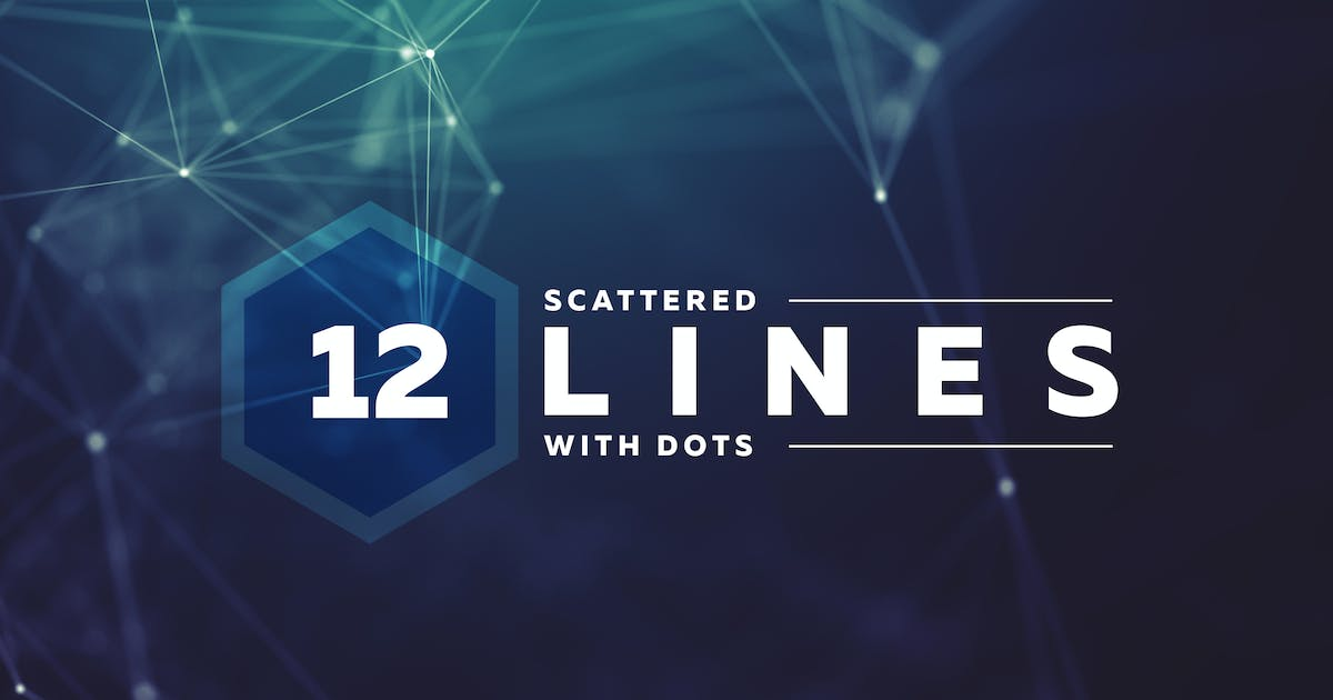 Scattered Lines & Dots Background Pack by Shemul