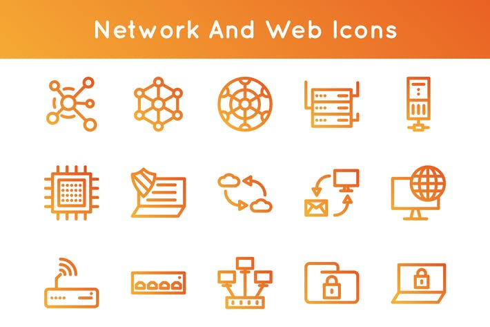 Thumbnail for Network And Web Icons