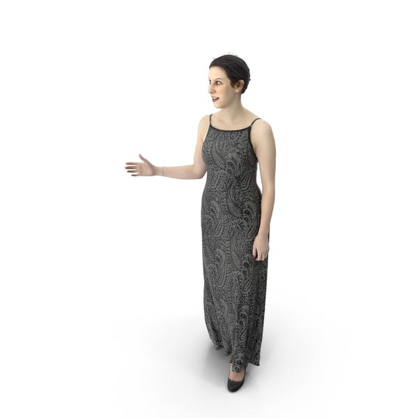 Woman Walking Dress