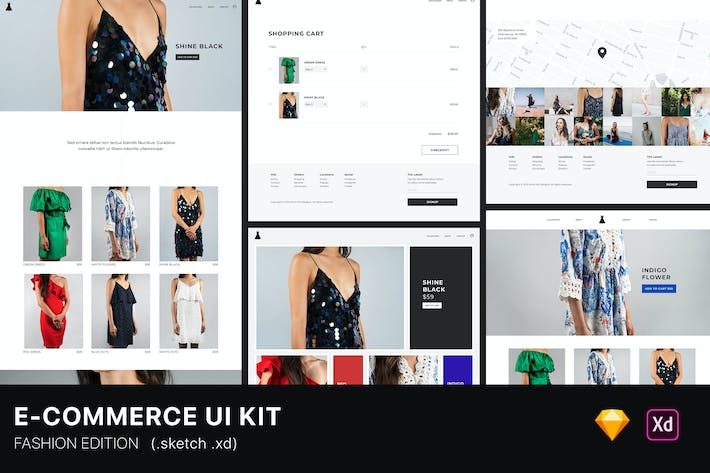 Thumbnail for E-Commerce Fashion Website UI Kit