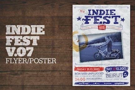 Indie Fest Poster (Handwritten) V07