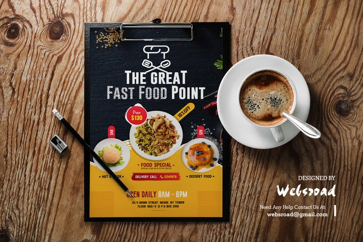 Thumbnail for Restaurants Food Flyer Template