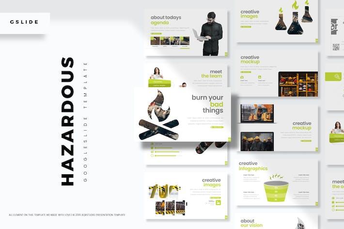 Cover Image For Hazardous - Google Slide Template