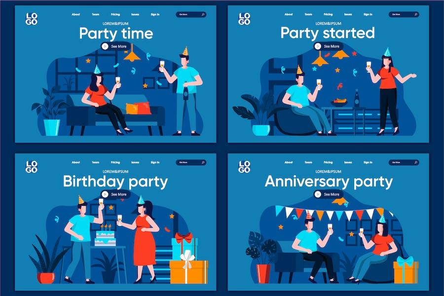 Modèle de page d'accueil Concept Fête Time