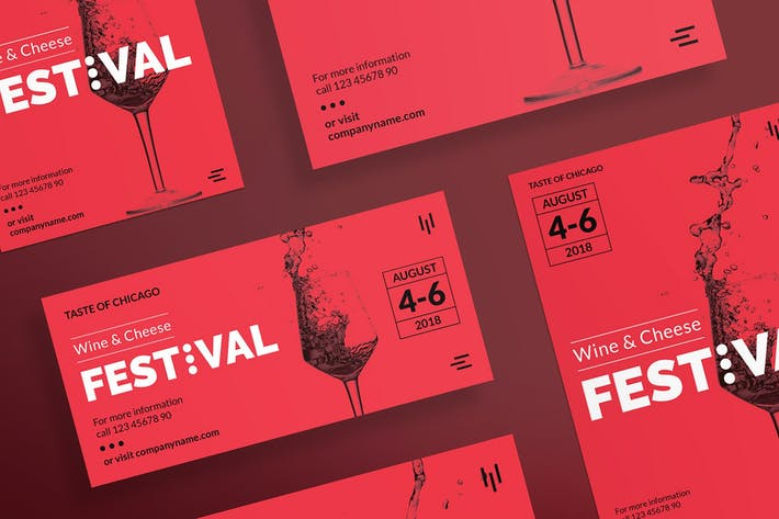Thumbnail for Wine Festival Flyer and Poster Template