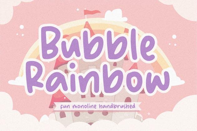 Bubble Rainbow Font YH