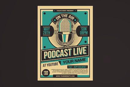 Podcast Live-Flyer