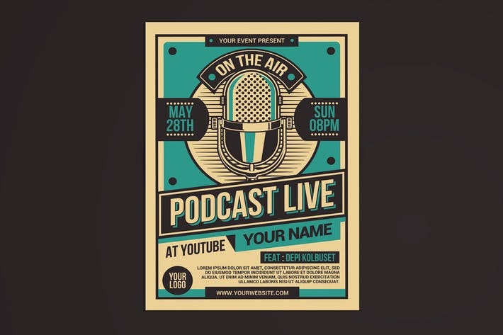 Thumbnail for Podcast Live Flyer