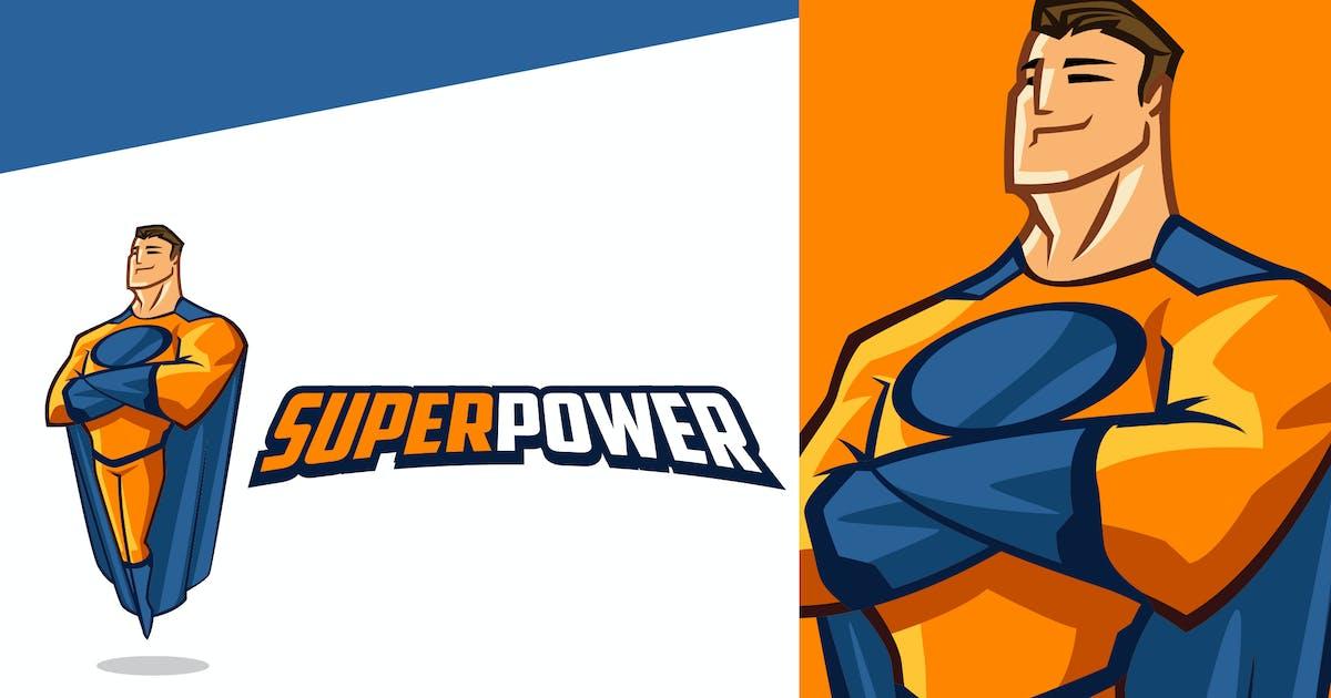 Download Smiling Superhero Mascot Logo by Suhandi