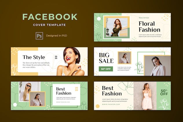 Facebook Cover Template Fashion