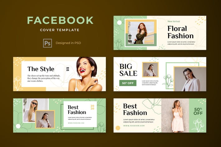 Thumbnail for Facebook Cover Template Fashion