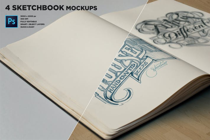 Thumbnail for Sketch Book Mockups