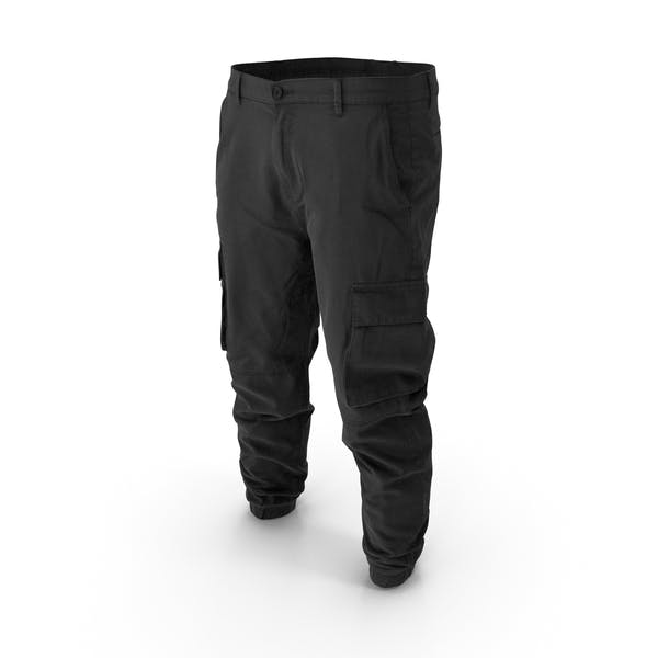 Thumbnail for Mens Black Cargo Pants