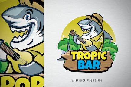 Tropic Bar Shark Logo