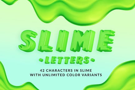 Slime Letters - 3D Alphabets and Numbers