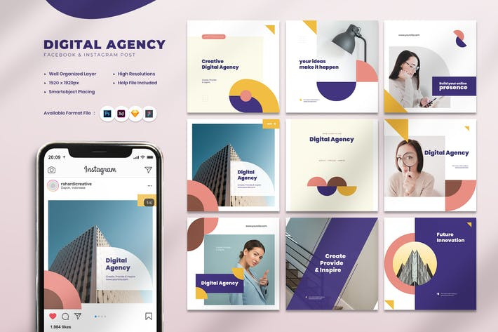 Thumbnail for Digital Agency Instagram Post
