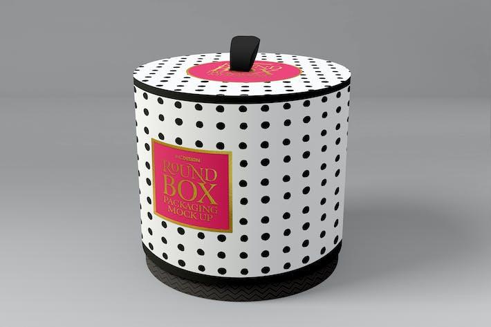 Thumbnail for Caja Redonda con Cubierta Pull Up Packaging MockUp