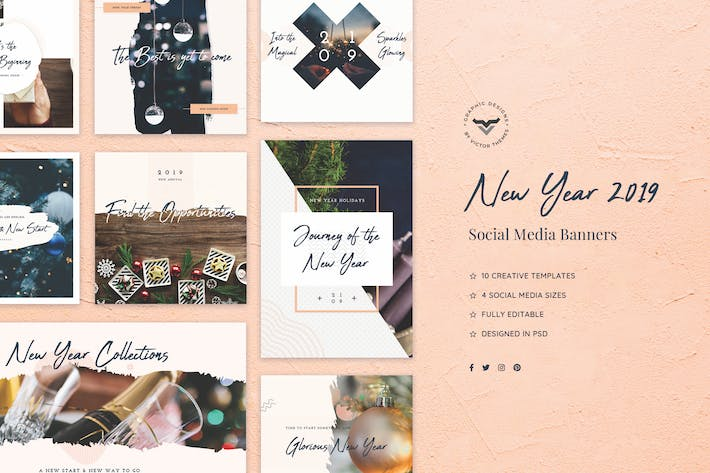 Cover Image For New Year Social Media Banners
