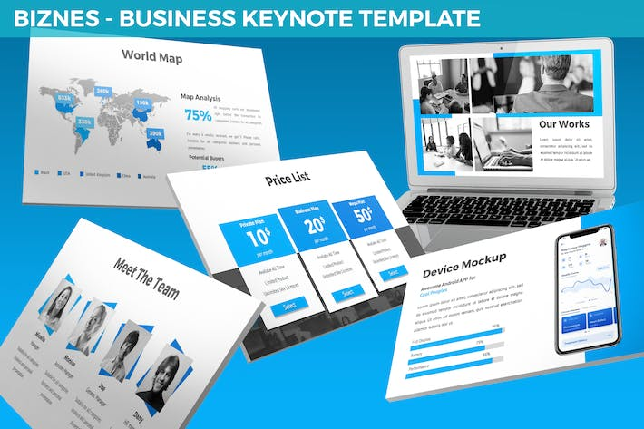 Thumbnail for Biznes - Business Keynote Template