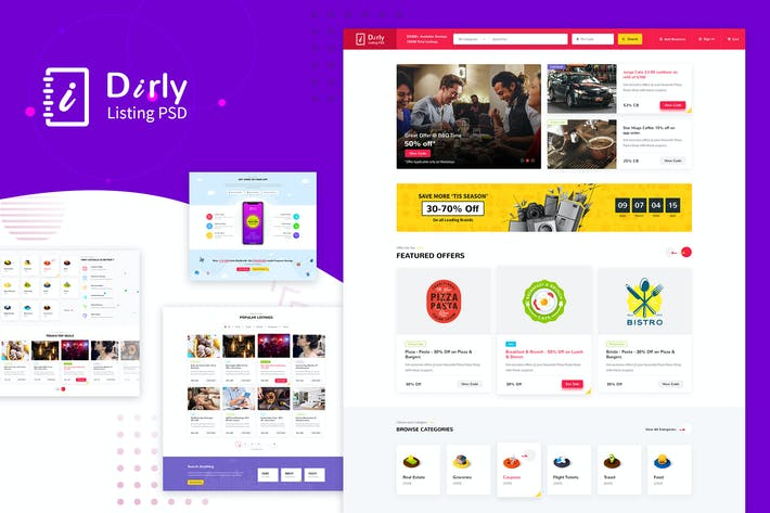 Thumbnail for Dirly | Directory Listing PSD Template