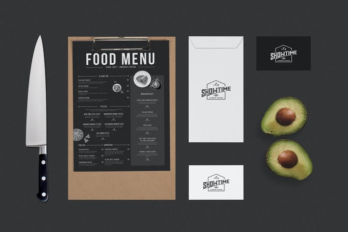 Thumbnail for Identity Food Menu Mock Up