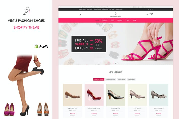 Thumbnail for Virtu - Fashion Shoes Store Shopify Theme