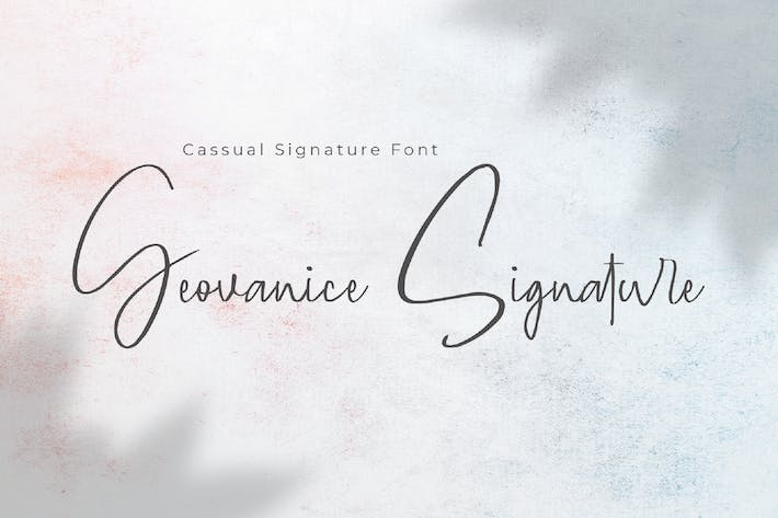 Thumbnail for Geovanice - Casual Signature Font
