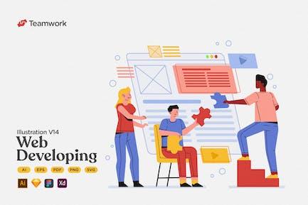 Trabajo en equipo - Colaboración en desarrollo web