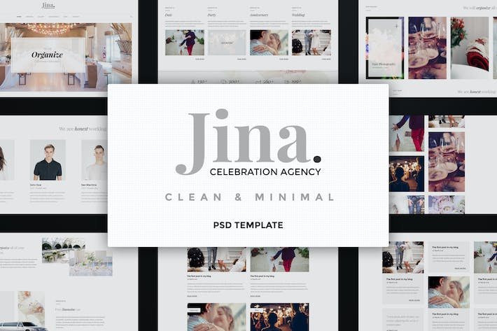 Thumbnail for Jina - Celebration Orginize Agency PSD Template
