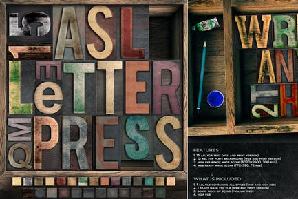 Letterpress Wood Edition