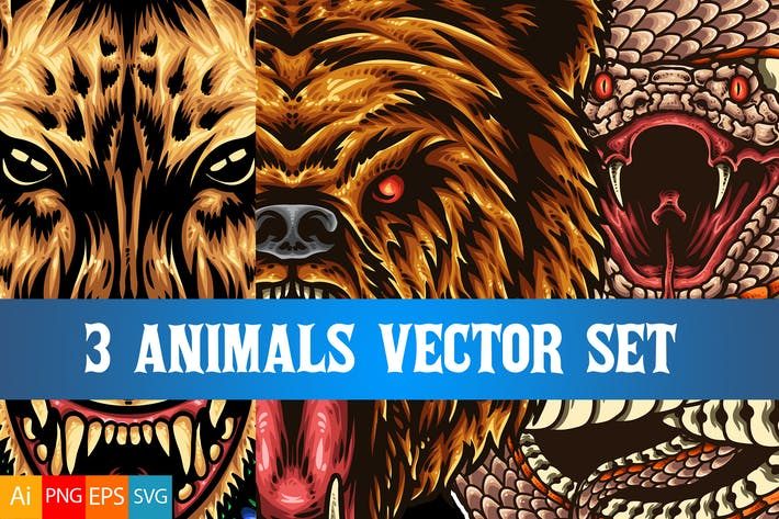 Thumbnail for 3 Animals Vector Set