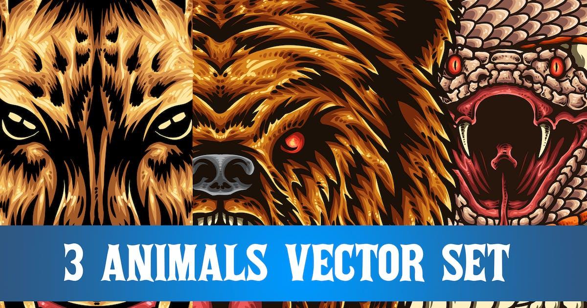 Download 3 Animals Vector Set by TSVcreative