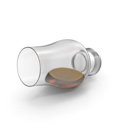 Vaso de whisky derramado Glencairn