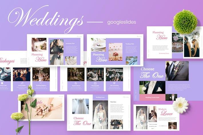 Thumbnail for Weddie - Weddings  Planner Google Slides