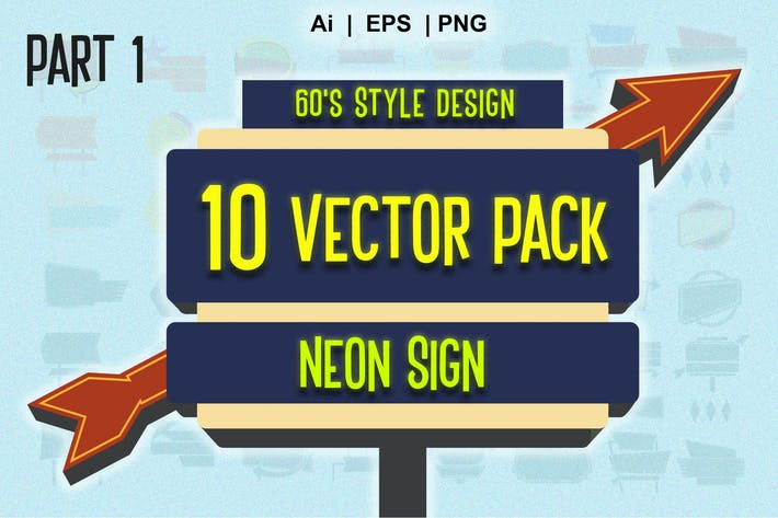 Thumbnail for neon sign vector