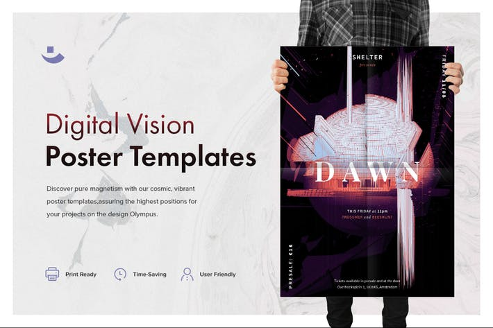 Thumbnail for Digital Vision Music Poster Template